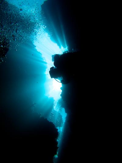 ブナケンで地形ダイビング